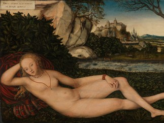 Lucas Cranach der Jüngere, Ruhende Quellnymphe, 1550