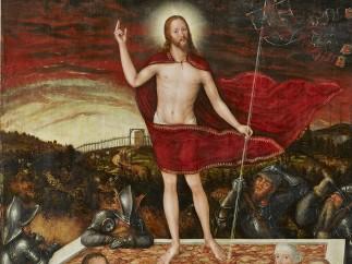 Lucas Cranach der Jüngere, Auferstehung Christi mit Stifterfamilie, 1554