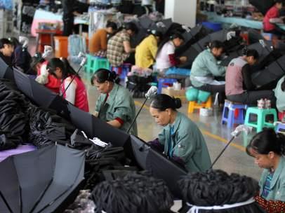 Trabajadores chinos