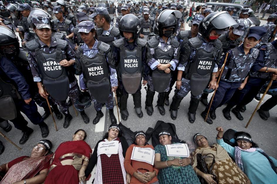 Protesta de las mujeres nepalíes por sus derechos