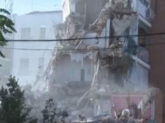 Un muerto y tres heridos en el derrumbe de un edificio en Navarra