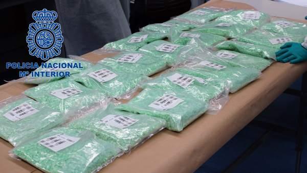 Droga incautada por la Policia Nacional.