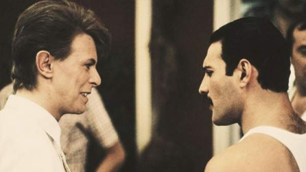 Freddy Mercury y David Bowie