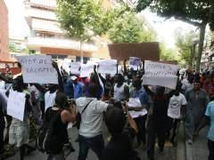 Manifestación en Salou de los senegaleses