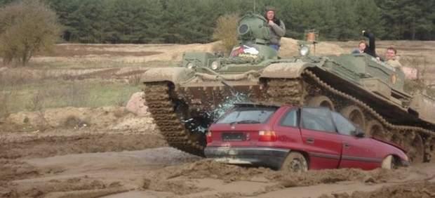 Pilotar un tanque en Alemania