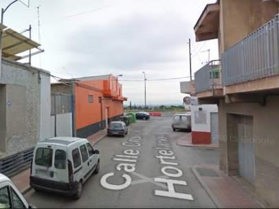 Calle Cruz de los Hortelanos, Totana (Murcia)