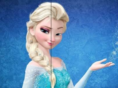 Elsa, sin maquillaje