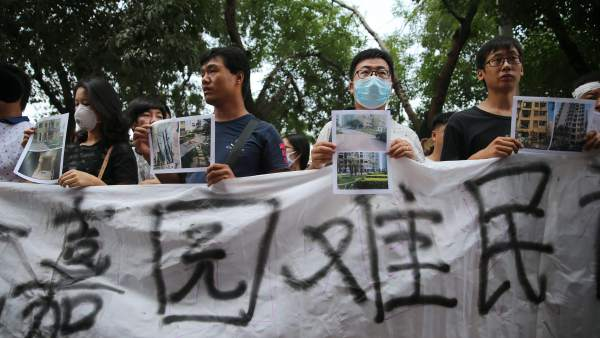 Protestas en China por la explosión en Tianjin