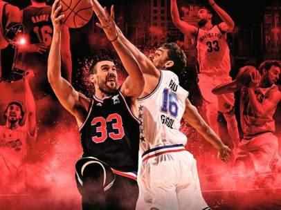 Marc y Pau Gasol comparten la portada española de NBA 2K16
