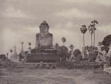 Linnaeus Tripe - Amerapoora, Colossal Statue of Gautama Close to the North End of the Wooden Bridge
