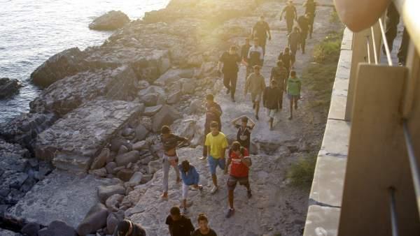 Redada policial en Melilla para localizar a menores inmigrantes