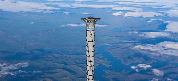 Una torre de 20(veinte) kilómetros de altura
