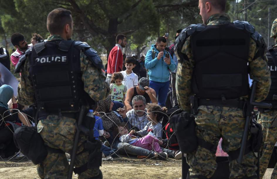 Enfrentamientos con los refugiados