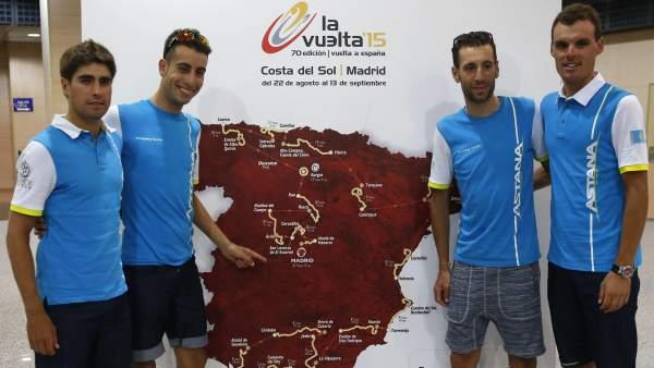 Ciclistas equipo Astana (Vuelta a España 2015)