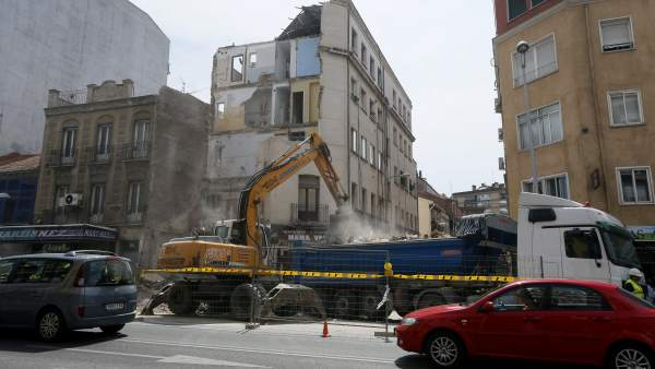 Edificio derrumbado en Tetuán