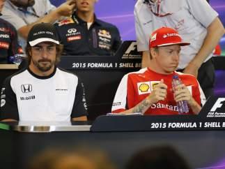 Alonso, Raikkonen, Hamilton en GP Bélgica