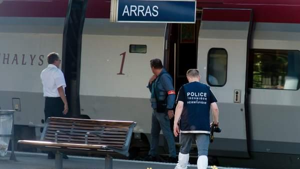 Ataque en un tren que conectaba Amsterdam y París