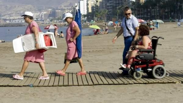Playa accesible para personas con discapacidad