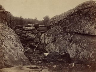 Home of a Rebel Sharpshooter by Alexander Gardner, July 1863
