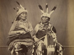 Ihanktonwan Nakota delegates Long Foot and Little Bird, Washington, D.C. by Alexander Gardner, 1867