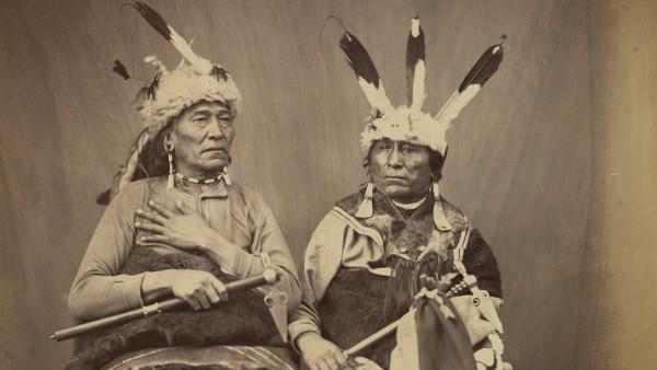 Ihanktonwan Nakota delegates Long Foot and Little Bird, Washington, D.C. by Alexander Gardner, 1867