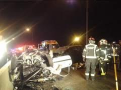 Un joven muerto y tres heridos en un choque frontal sobre la M-30 de Madrid