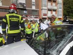 Un choque entre un autob�s y un coche en Usera deja cuatro heridos