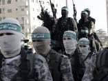 Desfile de militantes de Hamás