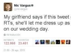 Twitter le ayuda a cumplir un reto: casarse vestido de tortuga ninja