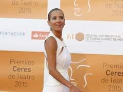 La actriz Ana Fern�ndez en los premios Ceres, en M�rida