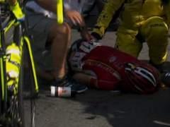 Grave ca�da en la Vuelta: el belga Boeckemans, hospitalizado