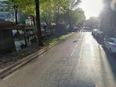 Calle donde ha ca�do una rama en Madrid