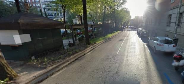 Calle donde ha caído una rama en Madrid