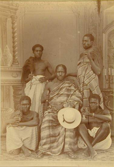 George A. G. and Albert George Lutterodt (Ghanaian, active from 1876), Five Men, ca. 1880-5