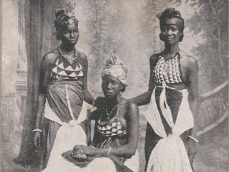 Unknown Artist [possibly Alphonso Lisk-Carew, Sierra Leonean, 1887-1969] Bundoo Girls � Sierra Leone, ca. 1905-1925