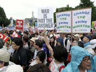 Manifestaci�n en Tokio
