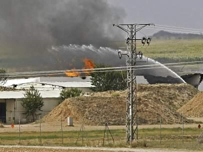 Accidente en una f�brica en Zaragoza