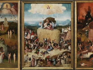 Jheronimus Bosch, Haywain-triptych (open), ca.1515