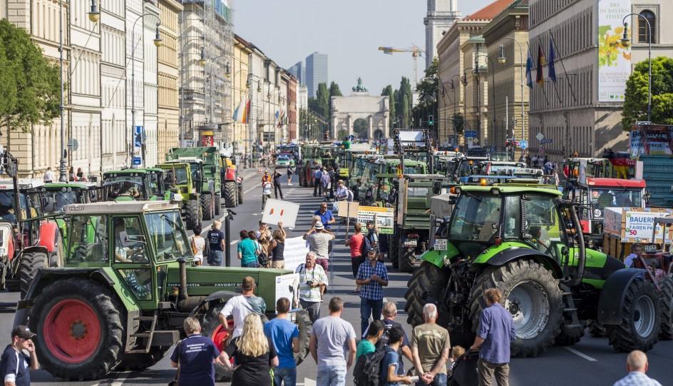 Los ganaderos alemanes salen a la calle