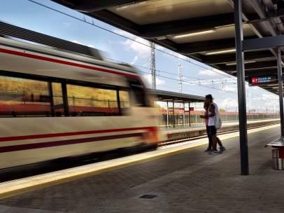 Estación de Cercanías en Madrid.