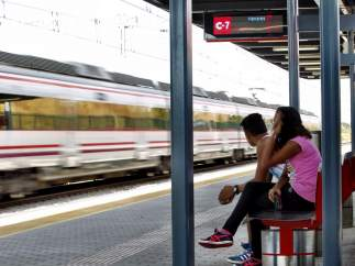 Estación de Cercanías en Madrid