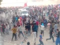 La polic�a impide que un mil afganos aborden un ferri en Lesbos