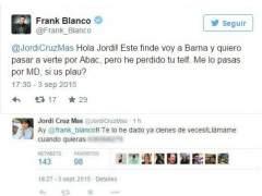 Jordi Cruz la l�a compartiendo su tel�fono en Twitter