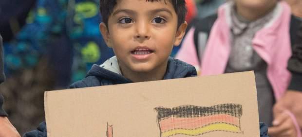 Niños refugiados en Austria