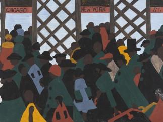 Jacob Lawrence. The Migration Series. 1940-41. Panel 1