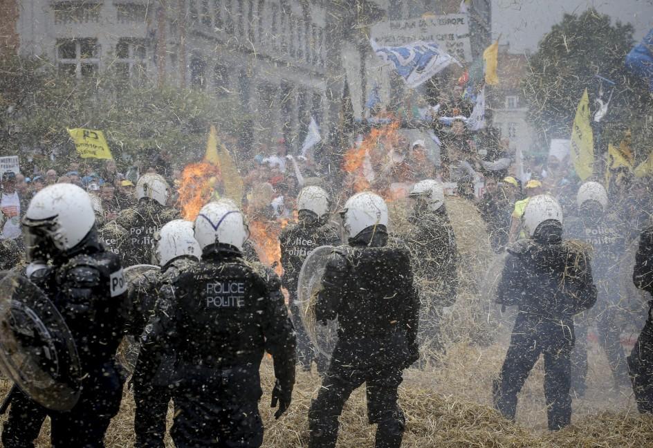 Los agricultores toman Bruselas