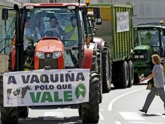 Protestas por el precio de la leche