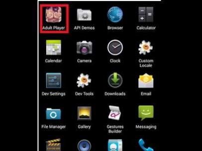 La aplicación maliciosa 'Adult Player'