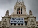 'Refugees Welcome' en el Ayuntamiento de Madrid