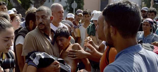 Crisis de refugiados en Lesbos
